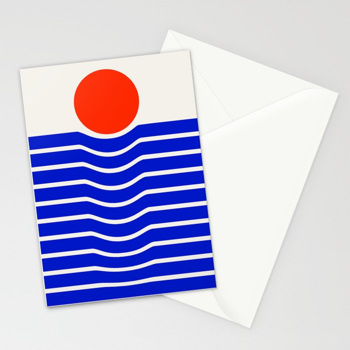 Going down-modern abstract Stationery Cards