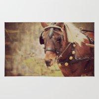 pony Area & Throw Rugs featuring Pony by KimberosePhotography