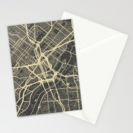 Dallas map Stationery Cards