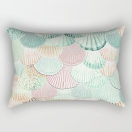 MERMAID SHELLS - MINT & ROSEGOLD Rectangular Pillow