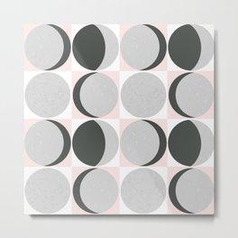 Gray Moon Cycle  Metal Print