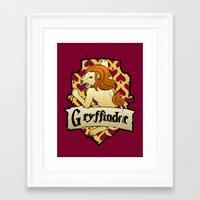 gryffindor Framed Art Prints featuring Gryffindor Crest by AriesNamarie