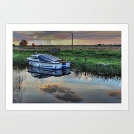 Boat at West Somerton  Art Print