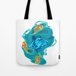 Blue and Oranges Tote Bag