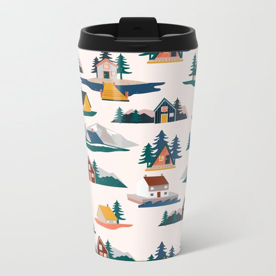 Let's stay here Metal Travel Mug