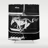 mustang Shower Curtains featuring Mustang  by Heidi Maly