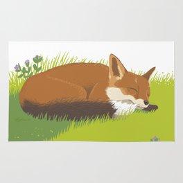 Snoozy Red Fox Rug