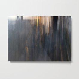 Grey Sunset Abstract Metal Print