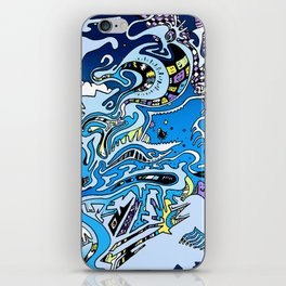 Swimming in the mind iPhone Skin