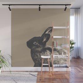 Little Rabbit on Sepia #1 #decor #art #society6 Wall Mural