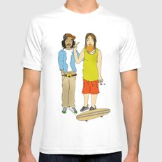 The cool guys. White Mens Fitted Tee MEDIUM