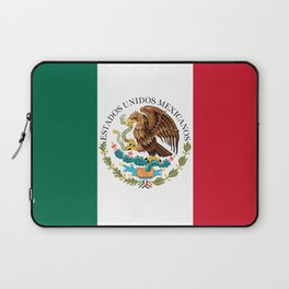 Flag of Mexico - alt version with seal insert Laptop Sleeve
