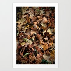Leaf Jumble Art Print