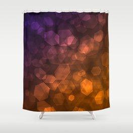 Orange blue abstract pattern . Shower Curtain