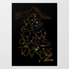 Skiphabet Art Print