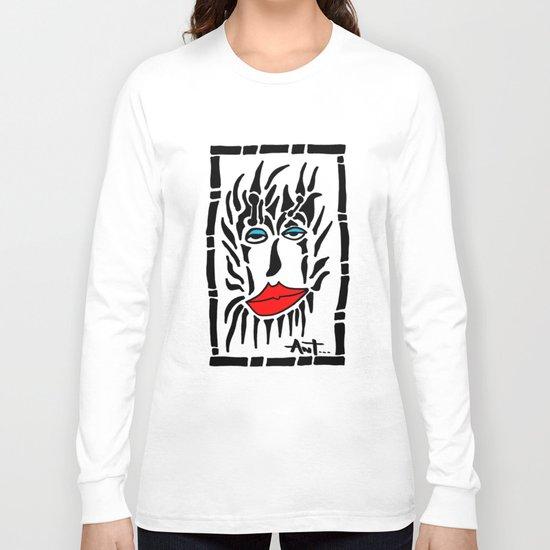 Lion Face Long Sleeve T-shirt