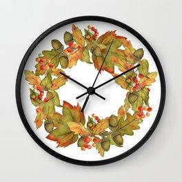 Oak Ring Wall Clock
