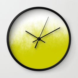 Chartreuse & White Ombre Wall Clock
