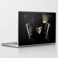 vendetta Laptop & iPad Skins featuring V for Vendetta (e5) by Ezgi Kaya