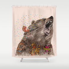 Angry Bear II Shower Curtain