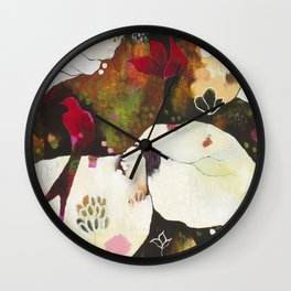 """Witnessing Skies of Birds"" Original Painting by Flora Bowley Wall Clock"