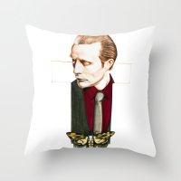 hannibal Throw Pillows featuring Hannibal by Caeruls