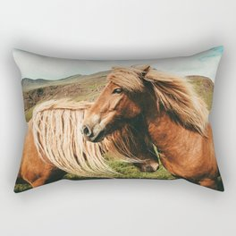 Wild Horses Rectangular Pillow