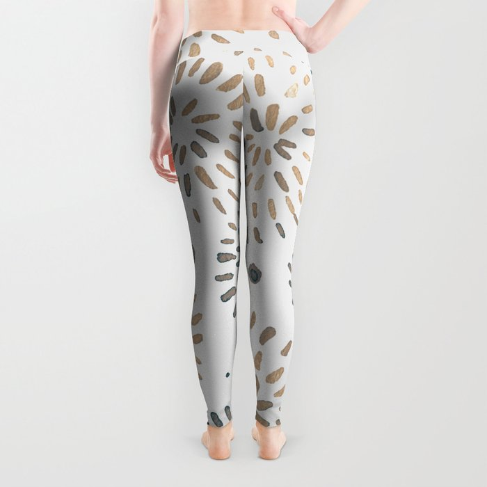 Abstract watercolor sparkles – neutral Leggings