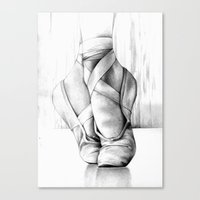 ballet Canvas Prints featuring Ballet by Andreas Derebucha