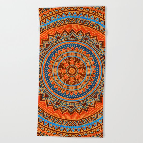 Hippie mandala 77 Beach Towel