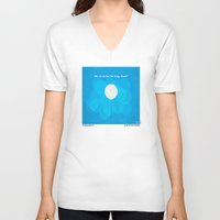 pixar V-neck T-shirts featuring No134 My UP minimal movie poster by Chungkong