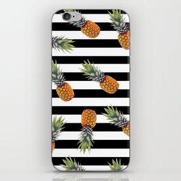 Black & White pineapple pattern iPhone Skin