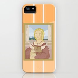 Lady with Unicorn by Raphael iPhone Case