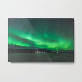 Glowing skies.  |  Wonders of Iceland Metal Print
