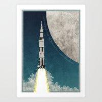 Apollo Rocket Art Print