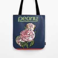 peony Tote Bags featuring Peony by Ken Coleman