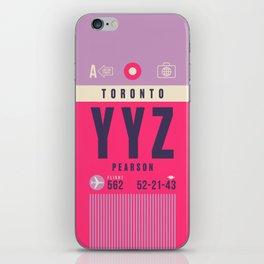 Retro Airline Luggage Tag - YYZ Toronto Canada iPhone Skin