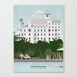 Chateau Marmont hotel Canvas Print