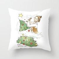 jedi Throw Pillows featuring Jolly Jedi by Khaedin