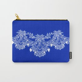 Vintage Lace Hankies Sapphire Blue Carry-All Pouch