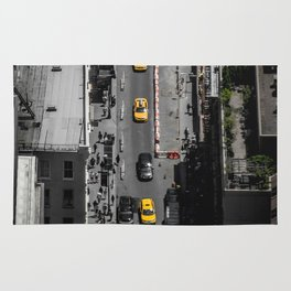 Yellow Cab from Above - Original #society6 exclusive Rug