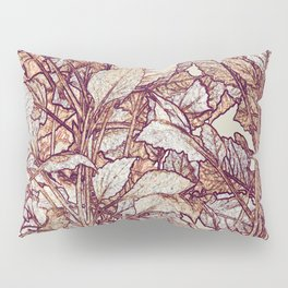 abstract camouflage leaves Pillow Sham