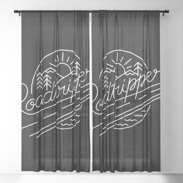 Roadtripper - white Sheer Curtain
