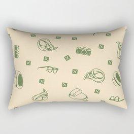 Traveler Hipster Trendy Retro Modern Pattern Rectangular Pillow