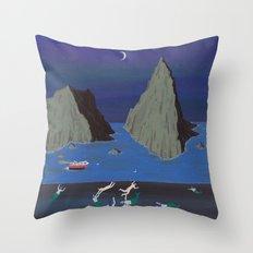 Evil Mermaids Throw Pillow