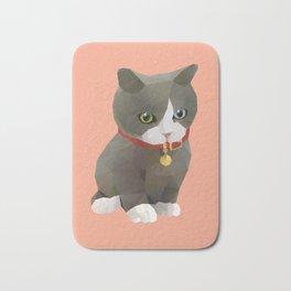 Kitten Polygon Art Bath Mat