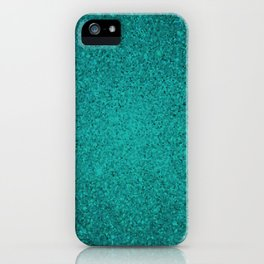 Apatite Teal Sparkling Jewels Pattern iPhone Case