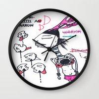 arrow Wall Clocks featuring arrow by DONA USTRA