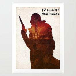 Fallout New Vegas - Ranger on The Strip Art Print
