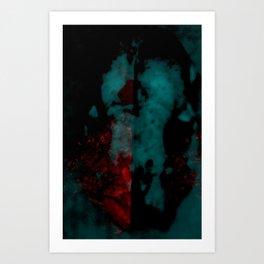 drug_Skull_blah1 Art Print